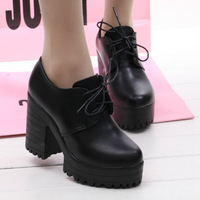 2014 women's shoes fashion platform high-heeled platform shoes thick heel single shoes wedges shoes low-top