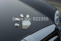 5PAIRS,Dog footprint 3D Car Sticker,Dog paw sticker,Chrome Badge Emblem Decal,Nick cover sticker,Free Shipping Global