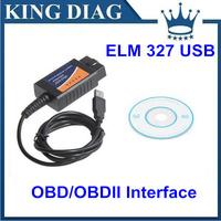 Free Shipping 2014 Newest Version OBD2/OBDII scanner ELM327 USB Interface ELM 327 USB