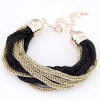 [Mix 15USD]Delicate European and American fashion metallic concise temperament of chain bracelet