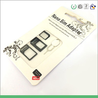 100 sets 2014 top sell  nano sim card  adapter for iphone 4/4s micro sim card adapter for iphone 5 /5s /5c sim card adapter