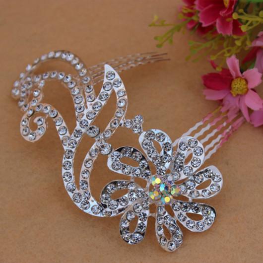 2014 New Design Wedding Bridal Hair comb Crystal women Rhinestone Jewelry Party wedding hair accessories bridal(