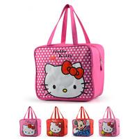 2014 NEW ARRIVE women's fashion lunch bag Cartoon bag Hello kitty lunch box bag Casual handbag Waterproof schoolbag Shopping bag