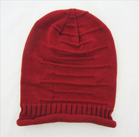 fold cap hip-hop hat head cap sleeve knit wool hat fashion winter hat