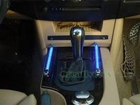 Blue Set Car Charge DVD Audio Indicator Voice/Sound Control Sensor Detector Music LED Light Lamp