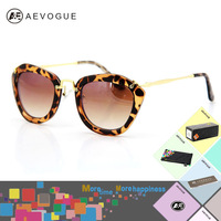 AEVOGUE with Original case brand Luxury fashion Sunglasses women Most Popular Sun Glasses oversize frame gafas de sol AE0073
