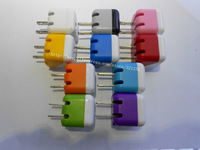 200pcs/lot Colorful 5V 1A US Charger For iPhone Samsung Galaxy