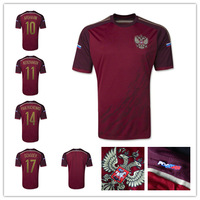 TOP A+++ FREE SHIPPING; 2014 Brazil World Cup Russia ARSHAVIN KERZHAKOV DZAGOEV Origin Thai Quality football jersey soccer shirt
