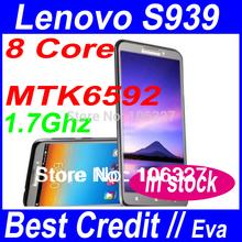 True MTK6592 phone Original Lenovo S939 MTK6592 Octa Core 1.7Ghz Android 4.2 Smartphone 6.0″ 1280*720 1GB/8GB GPS E-compass/Eva