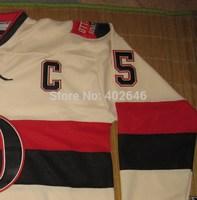 2014 HERITAGE classic, Ice Hockey Senators #65 Erik Karlsson jerseys, w / C patch