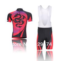 High Quality!2014 Xin Heng Red Dragon Cycling Jersey short sleeve bib pants/pants Quick Dry Breathable+GEL PAD Size XS-4XL 55E60
