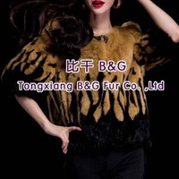 BG29663 Free Shipping Real Pieces Of  Mink Fur Clothes For Women Wholesale Retail Winter Mink Fur Jackets
