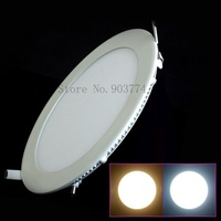 Free shipping wholesale 6W/9W/12W/15W/18W/21W/25W LED Recessed Ceiling Panel Down Lights Bulb Lamp Warm/Cool White