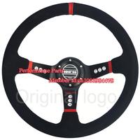 350mm Sparko Steering Wheel Suede Leather Universal Car Steering Wheel