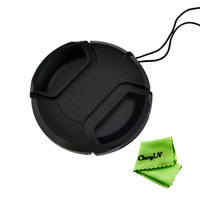 2pcs 52mm Camera Center Pinch Snap-on Front Lens Cap cover for NIKON Lens Sony A330 0.32-ULF24H-2