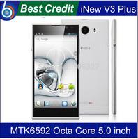 In stock Original Inew V3 MTK6582 V3 Plus V3c Mtk6592  5.0 inch HD Screen Android 4.4 13MP Camera NFC OTG 6.5mm mobile Phone