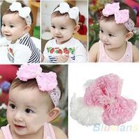 Cute Baby Girl Kid Toddler Pearl Headband Headwear Hat Accessories Rose Bow Lace Hairband Flower Headdress 06PD
