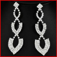 (45% off on wholesale) New Arrival Crystal Rhinestone Earrings Crystal Long Tassel Earrings Free Shipping E9