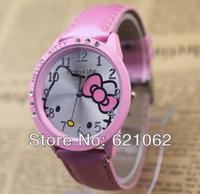 Hotsale! Waterproof Cartoon Child Watch Girls Lady Quartz Steel Wrist Watch 3 Colors