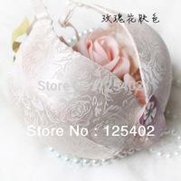 Wholesale ZQ-25 Noble Rose Massage Bra Jacquard Anti Allergy Silk Bras Pushup Bra Women Sexy underwear Free Shipping