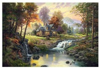 printed thomas kinkade landscape oil painting prints on canvas wall art picture for living room home decorations no frame