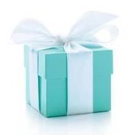 Blue Wedding Favor Box  With white  ribbon 50PCS/LOT wedding favor box Free shipping