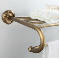 Copper fashion antique towel rack towel rack set bathroom hardware accessories thickening base vintage classic