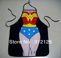 Novelty Funny SEXY women red briefs man muscle men unisex lady superman design apron wonder women  lets get married kitchen