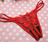 2014 hot women's Butterfly thongs sexy panties underwear g string retail 5 colors