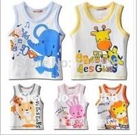 children's clothing summer cartoon boys girls child baby  vest knitted t-shirt Children's t-shirts Child Top free shipping