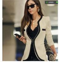 2014 spring OL new fashion slimming color patchwork women casual blazer, blazer chaqueta casacos abrigo femininas