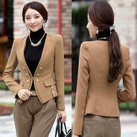 2014 new Korean Women coat fashion OL cultivating small suit casual blazer, blazer chaqueta casaco abrigo femininas