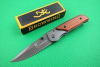 Browning 332  Small mini Wood Handle Pocket Folding knife Dropshipping Wholesale Camping tactical hunting survival faca knives