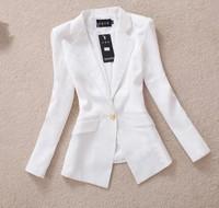 2014 spring Korean OL new fashion candy colore slim fit women blazer, manga blazer chaqueta casaco abrigo femininas