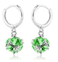 Fashion Austria Crystal   Earrings - happy Rubik cube earring for woman hoop  Y266