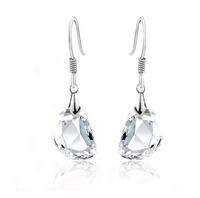 Fashion Austria Crystal   Pea Princess earrings jewelry popular Korean female pure white Earrings wholesale B3.8