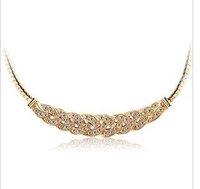 Fashion  Crystal   Luxury Czech drilling elegant waltz female short clavicle Chain Necklace