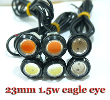 1pcs Car DIY 2.3Cm 9W 7000K 500-Lumen Waterproof Eagle Eye LED Daytime Running/Brake Lamps / Lights (DC 12V) Free Shipping(China (Mainland))