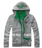 2014fashion brand spring autumn men causal cotton sportswear hoodie jacket double layer collar coat male outdoor wear sweatshirt