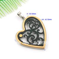 Free Shipping 3pcs/lot Superb IPG/IPB 316L S.Steel Heart  Pendant  PL573