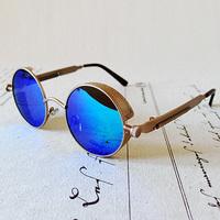 Steam punk gothic vintage decorative pattern baby round overlock antique glasses sunglasses s0080