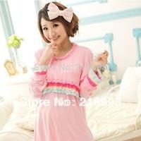 Month of clothing summer maternity 100% cotton sleepwear modal thin maternity set nursing clothing fashion nursing clothes