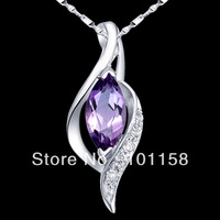 Christmas gifts, sterling silver 925,amethyst pendants,  jewellry ,SP0473A