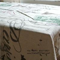 Cotton&Linen  tablecloths Paris Eiffel Tower with lace fabric drapes retro style tea table covers 90*90cm