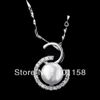 Christmas gifts, sterling silver 925,pearl pendants ,pendants to girlfriend, SP0558PL