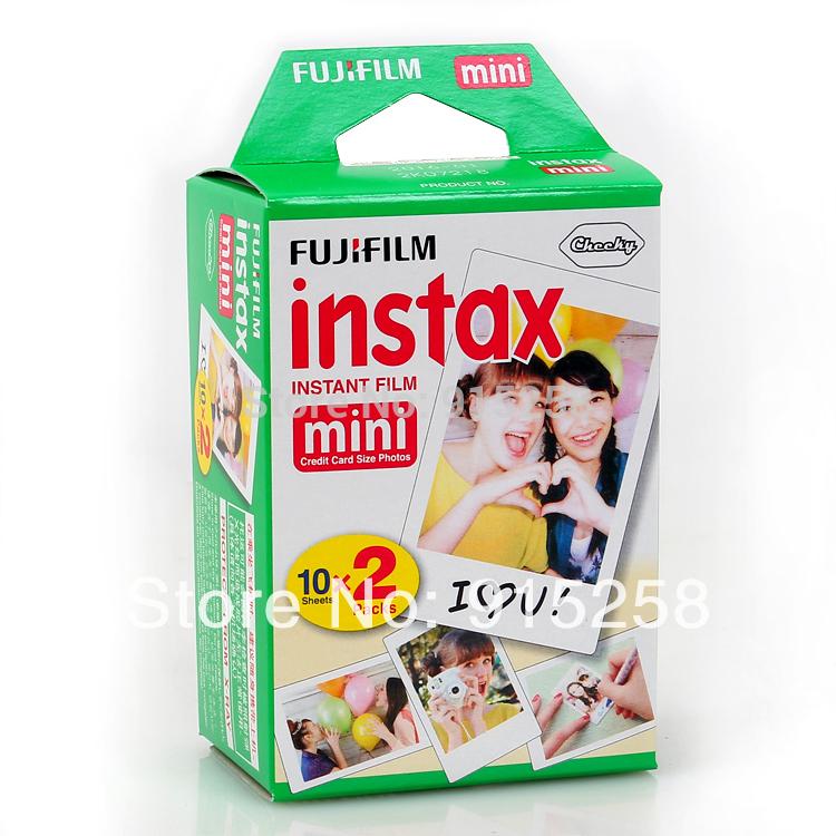 New Packaging!! 20 / box Fuji Fujifilm Instax Mini Film shoot Photo Paper for Instant Camera 7s 8 25 50s 50i 55i(China (Mainland))