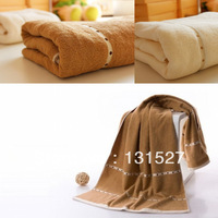 550g  80*180cm promotion wholesale luxury brand thicken plus size bathroom cotton beach bath towel