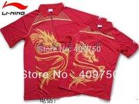 wholesale!free shipping li ning Women Badminton/Table Tennis shirt+shorts 7130