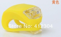 250pcs Factory Silicone 2 Led Cycling Bike Bicycle Rubber Tail Light LED Front Rear Flash Warning Lamp Rear Light Free DHL