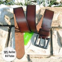 100% Genuine Leather 2014 Famous Brand 4.2cm Super Wide Belts For Men 120CM Cowhide Brown Belt Male Strap Cinto Ceinture MBT0018